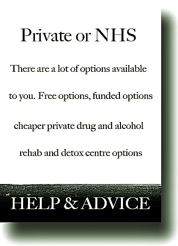 Drug detox uk private or NHS